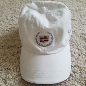 Cadillac White Embroidered Logo Cap